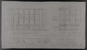 Scale Drawing of Sun Porch, House at Brookline, Mass. for Mrs. Talbot C. Chase, Feb. 3, 1930