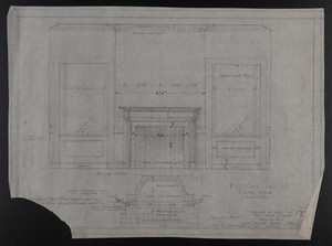 Fireplace End of Dining Room, Drawings of House for Mrs. Talbot C. Chase, Brookline, Mass., Feb. 6-Mar. 27, 1930