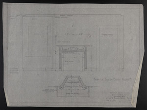 Fireplace End of Guest Rm. #1, Drawings of House for Mrs. Talbot C. Chase, Brookline, Mass., Feb. 10, 1930
