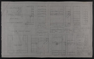 "3/4"" Scale Drawing of Closets, House at Brookline, Mass. for Mrs. Talbot C. Chase, Feb. 26, 1930"