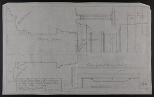 F.S.D. of Plaster Beam & Wood Pilaster in Hall of House at Brookline, Mass. for Mrs. Talbot C. Chase, Mar. 5, 1930