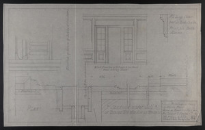 Some Miscellaneous Details of Inside Finish, House in Brookline, Mass. for Mrs. Talbot C. Chase, Mar. 23, 1930