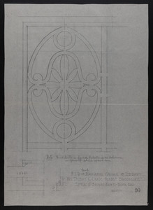 F.S.D. of Wood Radiator Grille in Library, Mrs. Talbot C. Chase House, Brookline, April 8, 1930