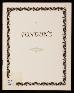 Fontaine service, wrought from solid silver, International Silver Company, Meriden, Connecticut