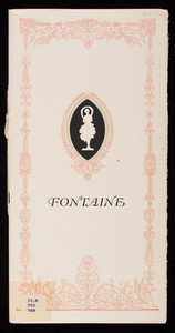 Fontaine Service in international sterling for the modern American home, wrought from solid silver, International Silver Company, Meriden, Connecticut