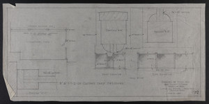 "1/4"" & F.S.D. of Clothes Yard Enclosure, Drawings of House for Mrs. Talbot C. Chase, Brookline, Mass., April 24, 1930"