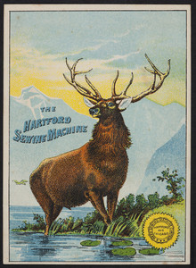 Trade card for The Hartford Sewing Machine, Weed Sewing Machine Company, Hartford and Chicago, undated