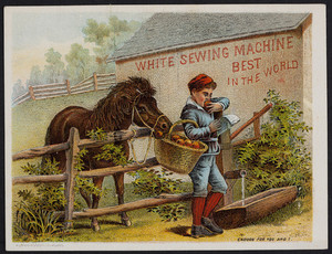 Trade card for the White Sewing Machine, Cleveland, Ohio, undated