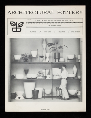 Architectural pottery, C. Kind & Co., 100 West 28th Street, New York, New York