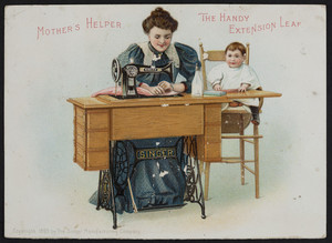 Trade card for The Singer Manufacturing Company, cabinet table, New York, New York, 1899