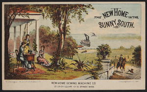 Trade card for the New Home Sewing Machine Co., 30 Union Square, New York and Orange, Mass., 1893