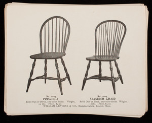 Furniture catalog, William Leavens & Co., manufacturers, Boston, Mass.