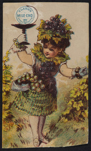 Trade card for Clark's Mile-End Spool Cotton 30, John Clark Jr. & Co., location unknown, undated