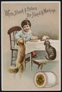 Trade card for J. & P. Coats' Best Six Cord Thread 50, J. & P. Coats, location unknown, 1887