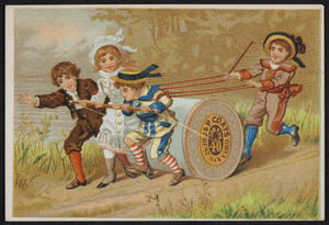 Trade card for J. & P. Coats' Best Six Cord, location unknown, undated