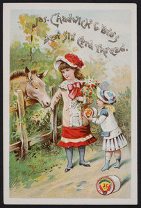Trade card for Jas. Chadwick & Bros., Six Cord Thread, location unknown, undated