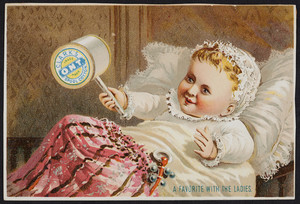 Trade card for Clark's O.N.T. Spool Cotton, location unknown, undated
