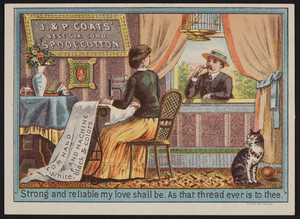 Trade cards for J. & P. Coats' Best Six Cord Spool Cotton, location unknown, undated