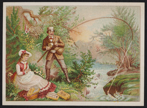 Trade cards for J. & P. Coats' Best Six Cord Spool Cotton, location unknown, 1880