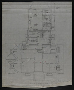 Plan of Basement Floor, Addition to House of Francis Shaw, Esq., 346 Kent Street, Brookline, undated