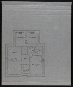 Unidentified floor plan, residence of Francis Shaw, Brookline, Mass., undated