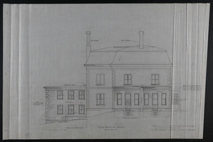 Side Elevation South, Addition to House of Francis Shaw, Esq., 346 Kent Street, Brookline, undated