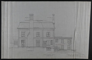 Side Elevation North, Addition to House of Francis Shaw, Esq., 346 Kent Street, Brookline, undated