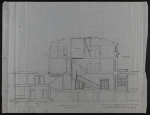 Longitudinal Section, Addition to House of Francis Shaw, Esq., 346 Kent Street, Brookline, undated
