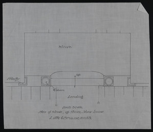 Inch Scale Plan of Alcove, off Stairs, Shaw House, undated