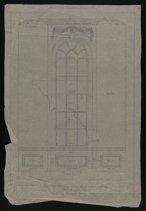 Elevation of Window on Stair Landing, House for Francis Shaw, Esq., undated