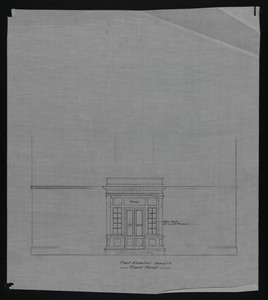 Front Elevation, Front Porch, undated