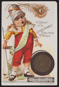 Trade card for Willimantic Thread, Willimantic Linen Co., Willimantic, Connecticut, undated