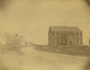 Exterior view of Rocky Hill Meeting House and Parsonage, Amesbury, Mass.