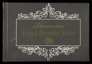 Schumacher hand printed foils, price list 75th anniversary collection, F. Schumacher & Co., New York, New York