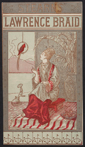 Trade card for Stearns' Lawrence Braid, Wright Manufacturing Co., location unknown, undated