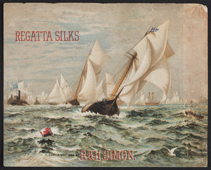 Trade card for Regatta Silks, R. & H. Simon, location unknown, 1886