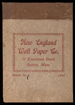 Book no. 4, New England Wall Paper Co., 17 Kneeland Street