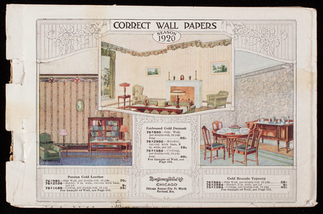 Correct wall papers, season 1920, Montgomery Ward & Co., Chicago, Illinois