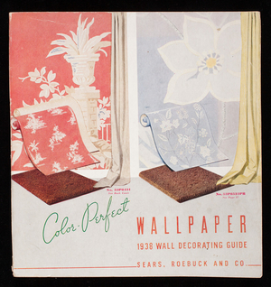 Color-perfect wallpaper, 1938 wall decorating guide, Sears, Roebuck and Co., Chicago, Illinois