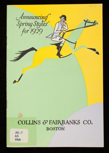 Announcing spring styles for 1929, Collins & Fairbanks Co., 383 Washington Street, 16 Bromfield Street, Boston, Mass.