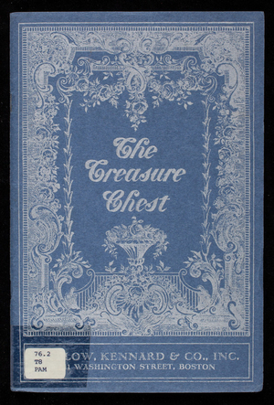 """The Treasure Chest,"" year book 1929, Bigelow, Kennard & Co., 331 Washington Street, Boston, Mass."