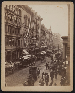 Tremont Temple decorated for Grand Army of the Republic, 88 Tremont St., Boston, Mass., 1890
