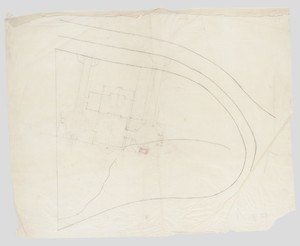 "Plot plan, residence of Mrs. Charles C. Pomeroy [Edith Burnet (Mrs. Charles Coolidge Pomeroy)], ""Seabeach"", Newport, R. I., 1900."