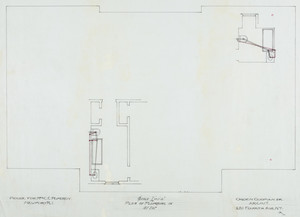 "Attic plumbing plan, 1/4 inch scale, residence of Mrs. Charles C. Pomeroy [Edith Burnet (Mrs. Charles Coolidge Pomeroy)], ""Seabeach"", Newport, R. I., 1900."