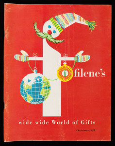 Filene's wide wide world of gifts, Christmas 1957, Filene's, Boston, Mass.