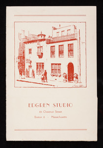 Edgren Studio, 85 Chestnut Street, Boston, Mass.