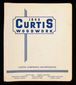 Curtis design book of architectural woodwork, number 510, Curtis Companies, Clinton, Iowa and Wausau, Wisconsin