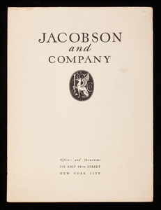 Jacobson and Company, plaster, 241 East 44th Street, New York, New York