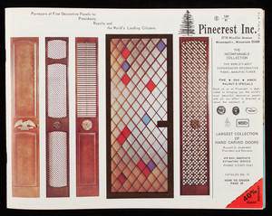 Pinecrest Inc., purveyors of fine decorative panels to presidents, royalty and the world's leading citizens, 2710 Nicollet Avenue, Minneapolis, Minnesota