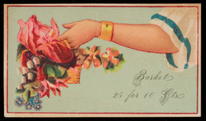 Sample card for basket pack, location unknown, undated